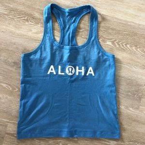 Lulu Lemon Aloha Hawaii exclusive swiftly tank top